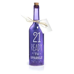 '21' Glass Starlight Bottle