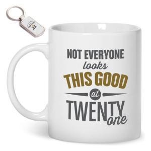 21st Birthday Gift Mug & Key Ring