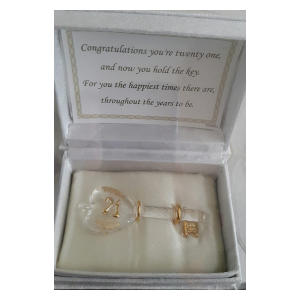 21st Gift Glass Key In A Box