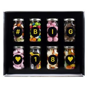 8 Retro Sweet Jars in Gift Box