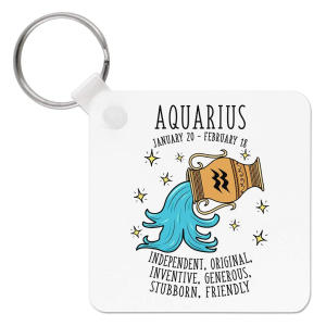 Aquarius Horoscope Keyring