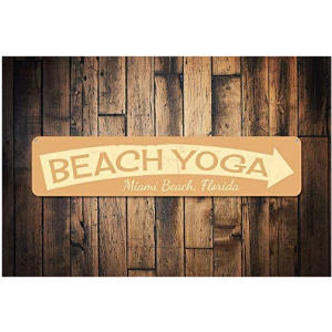 Beach Yoga Sign