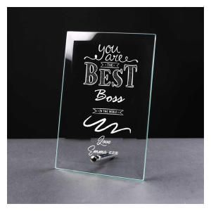 Best Boss Engraved Glass Plaque