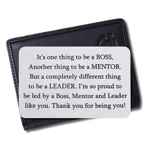 Boss Engraved Wallet Card