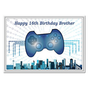 Brother 16th Bday Card - Gamer Theme