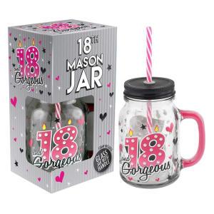 Cocktail Drinking Mason Jar