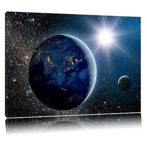 Earth in Space Canvas