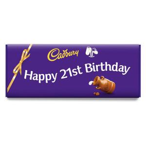 Happy 21st Birthday Dairy Milk 850g Bar