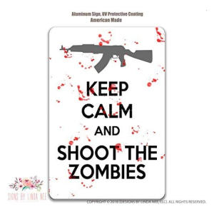 Keep Calm Zombies Sign