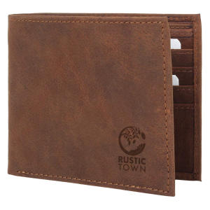 Leather Wallets for Men RFID Blocking
