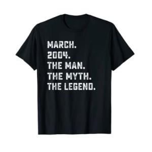 Man Myth Legend March 2004 T-Shirt