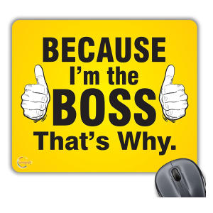 Novelty Boss Mouse Mat