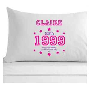 Personalised 16th Birthday Pillowcase