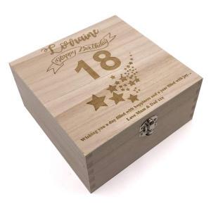 Personalised Birthday Keepsake Box 18th