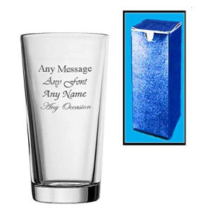 Personalised Engraved Perfect Pint Glass