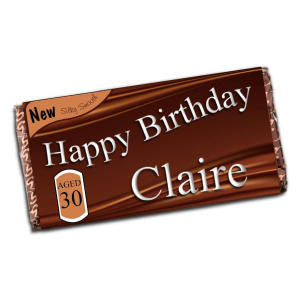 Personalised Happy Birthday 110g Milk Chocolate Bar