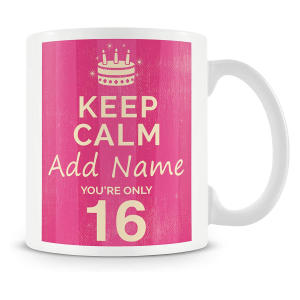 Personalised Mug/Cup - Keep Calm Design