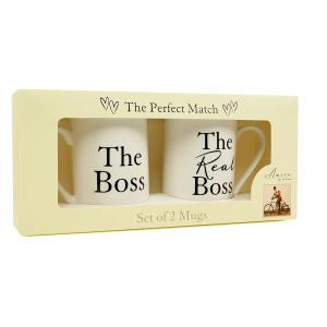 Real Boss Bone China Mugs