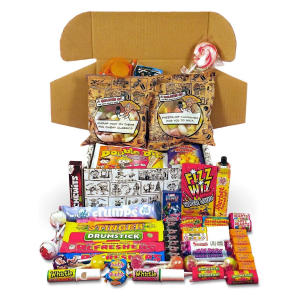 Retro Sweets Cartoon Box Selection