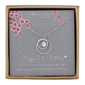 Sterling Silver Infinity 2 Circle Necklace