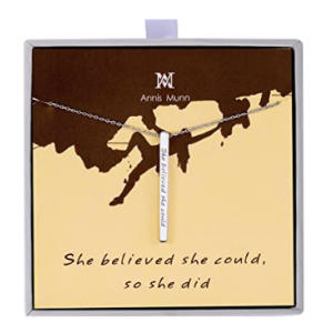 Sterling Silver Inspirational Bar Necklace Engraved
