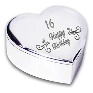 Swirl Silver Finish Heart Shaped Trinket Box