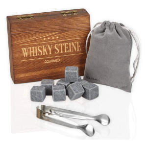 Whisky Stones Gift Set from Natural Soapstone