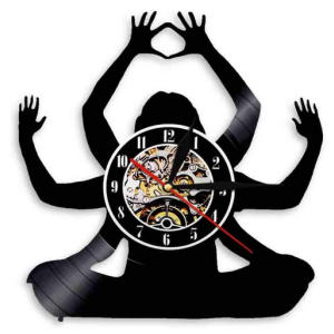 Yoga Wall Decor Clock