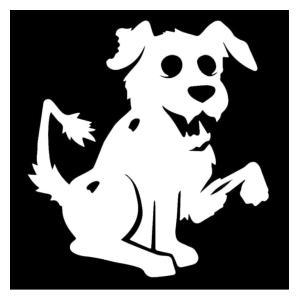 Zombie Dog Car Sticker