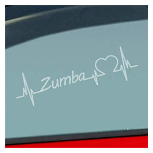 Zumba Heartbeat Car Sticker