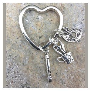 Artists Heart Key Ring