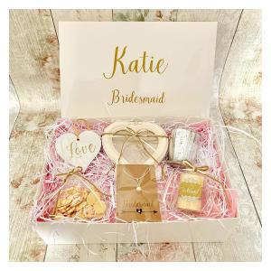 Personalised Bridesmaid or Maid of Honour Gift Box Hamper