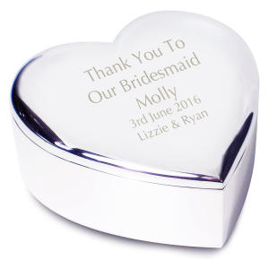 Bridesmaid Heart Trinket