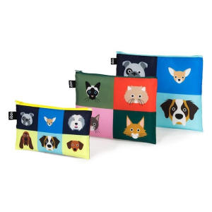 Dogs & Cats Zip Pockets ID Case