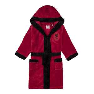 Liverpool FC Hooded Fleece Dressing Gown Robe