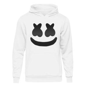 Marshmallow DJ Smiley Face Hoodie