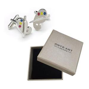 Mens Artists Paint Palette Cufflinks & Gift Box