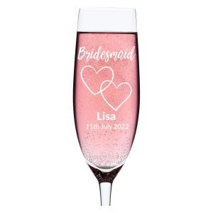 Personalised Engraved Wedding Glass