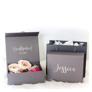 Personalised Grey Bridesmaid Gift Box