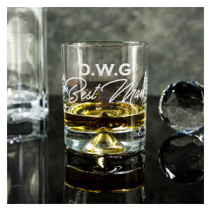 Personalised Heavy Glass Tumbler