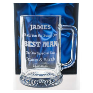 Personalised Pub Pint Glass BEST MAN