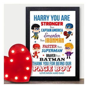 Personalised Superhero Best Man Gift