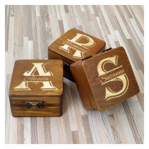 Personalised Brown Wooden Bridesmaid Box