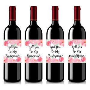Set of 4 Wine Bottle Labels