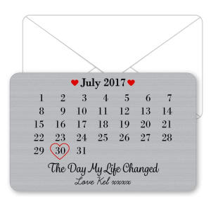 The Day My Life Changed Metal Wallet Card
