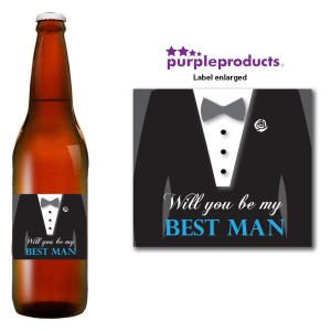 Will You Be My Best Man Beer Label