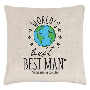 World's Best Best Man Cushion Cover