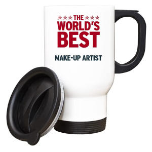 Worlds Best Make-Up Artist White Travel Mug