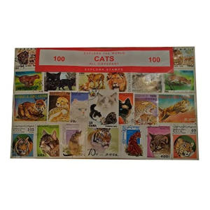 100 Different Cat Stamps