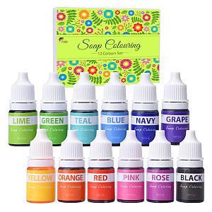 12 Colour Soap Dye